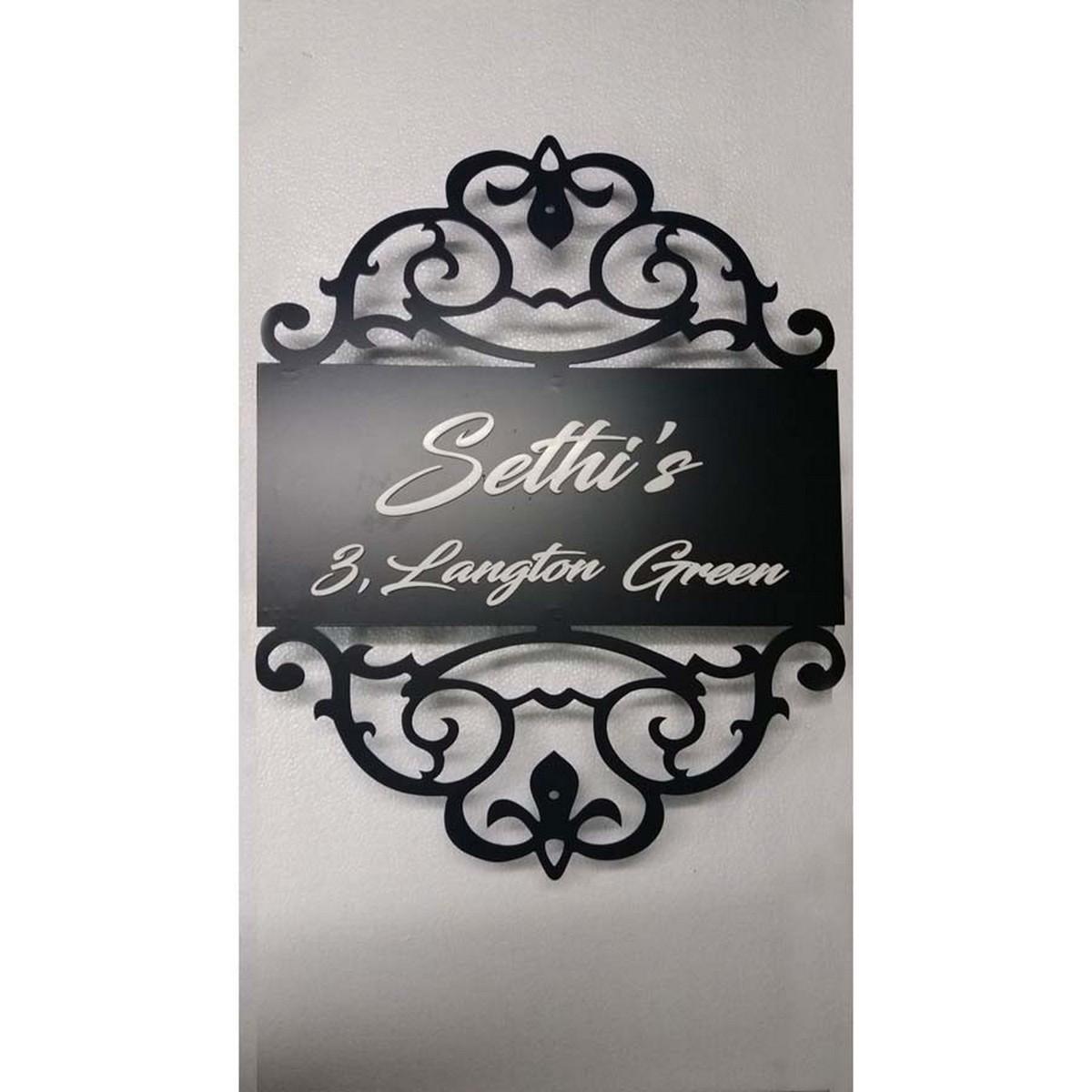 Sethis  Light Name Plate  Mild Steel + Acrylic  Sethis  Name Plate