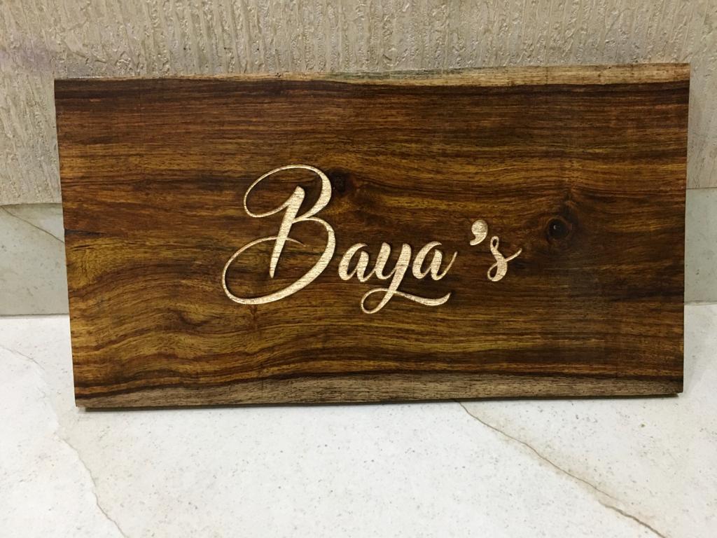 Sheesham Wood Wooden Nameplate  Sheesham wood 1