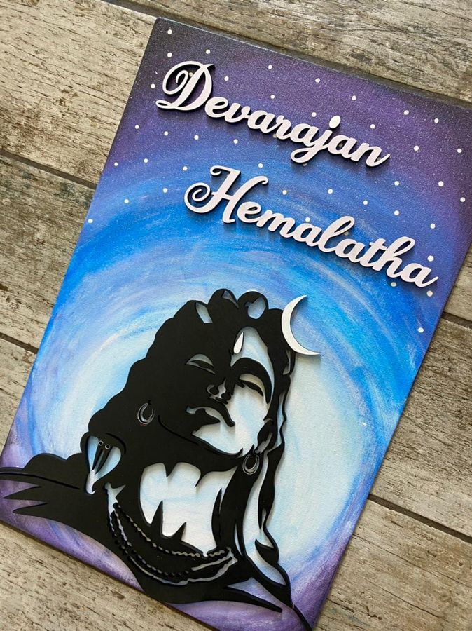 Aadiyogi Shiva Mahadev Canvas Nameplate