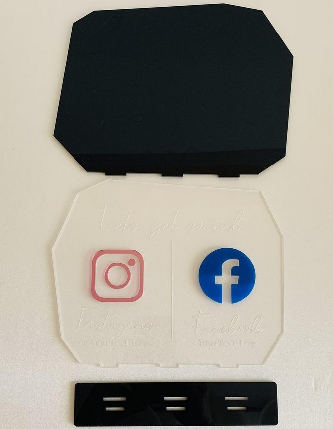 Social Media Acrylic Table Signs  Social Media Table Acrylic signs  4