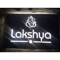 Stainless Steal LED Name Plate 5