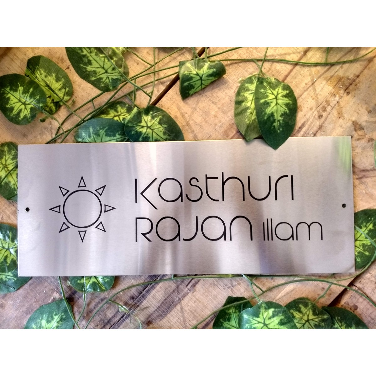 Stainless Steel 304 Engraved Name Plate
