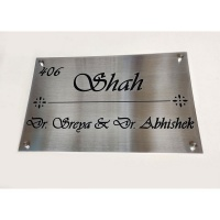Krishna Name Plate For 4 Names  Stainless steal name plate