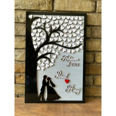 Tree of Hearts Couple Nameplate
