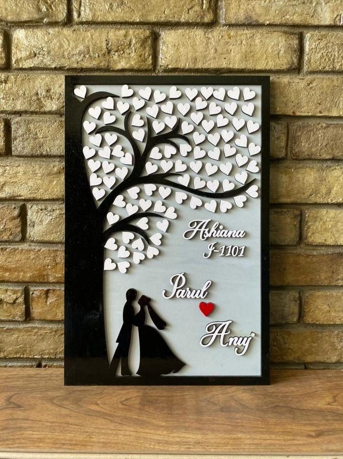 Tree of Hearts Couple Nameplate  couple nameplate