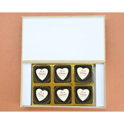 Heart Chocolates For Valentines Day 6 Pcs  Valentaine Day 01HAP4