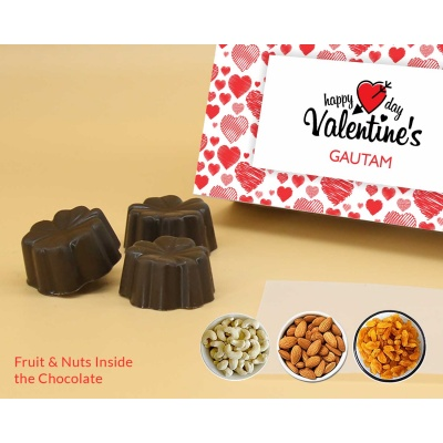 Lovely Chocolate Gift   Fruit  Nuts 18Pcs  Valentaine Day 03FNNP3