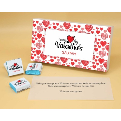 Wrappper Printed Chocolates For Valentine 6pcs  Valentaine Day 03FNWP1