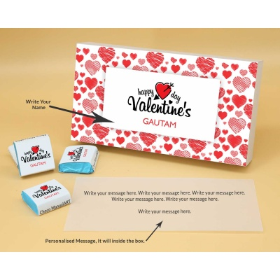 Wrappper Printed Chocolates For Valentine 6pcs  Valentaine Day 03FNWP2