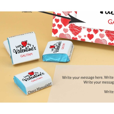 Wrappper Printed Chocolates For Valentine 6pcs  Valentaine Day 03FNWP3