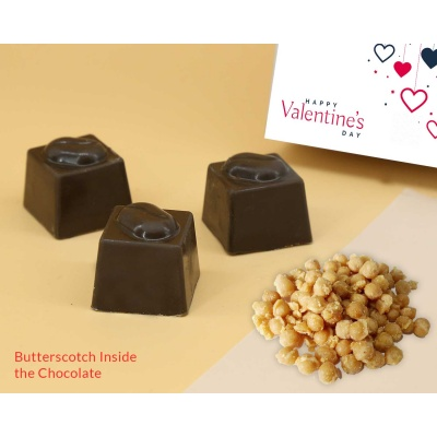 Customised Gift | Butter Scotch Chocolates 12Pcs  Valentaine Day 04BSNP3