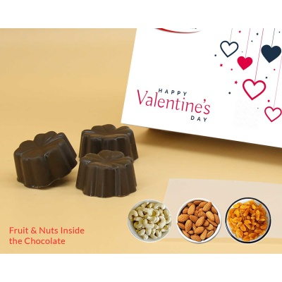 Customised Gift | Fruit  Nuts Chocolates 12Pcs  Valentaine Day 04FNNP3