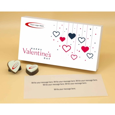 Personalised Heart Chocolates For Valentine 6 Pcs  Valentaine Day 04HAP1