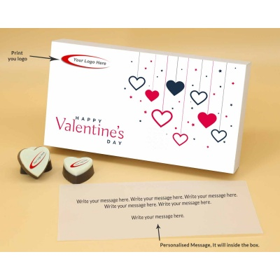 Personalised Heart Chocolates For Valentine 6 Pcs  Valentaine Day 04HAP2