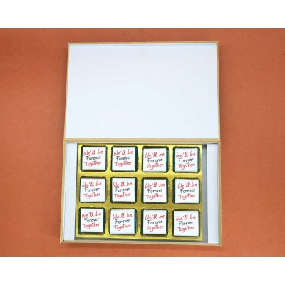 Valentine Chocolates With Wrappper Printed 12pcs  Valentaine Day 05FNWP5