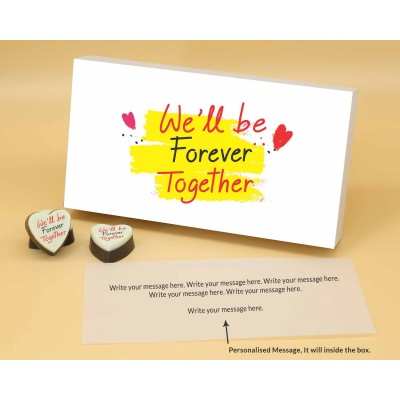 Customised Heart Chocolates For Couple 18 Pcs  Valentaine Day 05HAP2