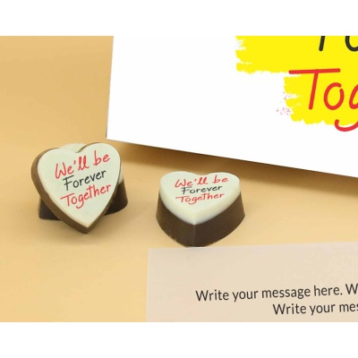 Customised Heart Chocolates For Couple 18 Pcs  Valentaine Day 05HAP3
