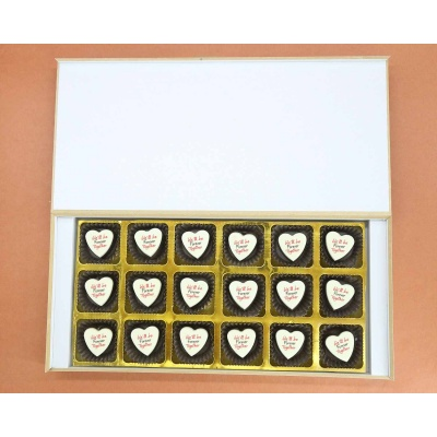 Customised Heart Chocolates For Couple 18 Pcs  Valentaine Day 05HAP6