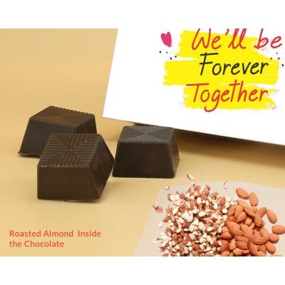 Best Gift For Valentine   Almond Chocolates 18Pcs  Valentaine Day 05RANP3