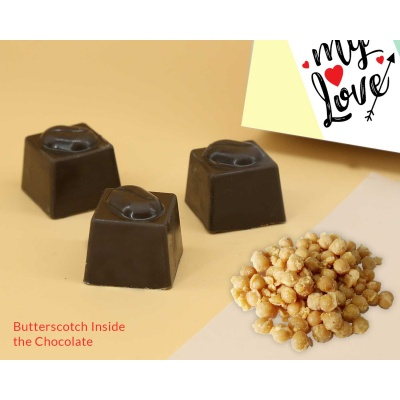 Butter Scotch Chocolates For Love 18Pcs  Valentaine Day 06BSNP3