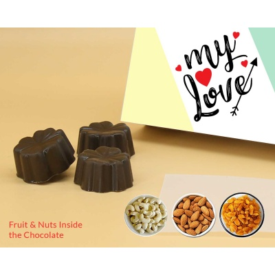 Fruit  Nuts Chocolates For Love 18Pcs  Valentaine Day 06FNNP3