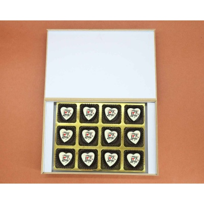 Heart Printed Chocolates For Love 12 Pcs  Valentaine Day 06HAP5