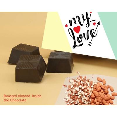 Best Gift For Valentine   Almond Chocolates 12Pcs  Valentaine Day 06RANP3