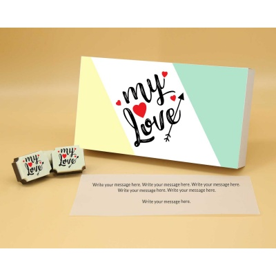 Printed Chocolates For Love 12 Pcs  Valentaine Day 06RAP1