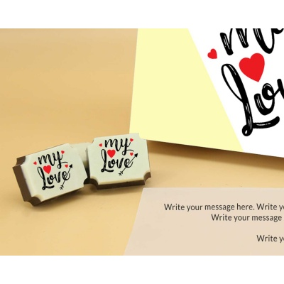 Printed Chocolates For Love 12 Pcs  Valentaine Day 06RAP3