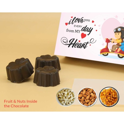 Best Valentine Gift Online   Fruit  Nuts 6Pcs  Valentaine Day 07FNNPC