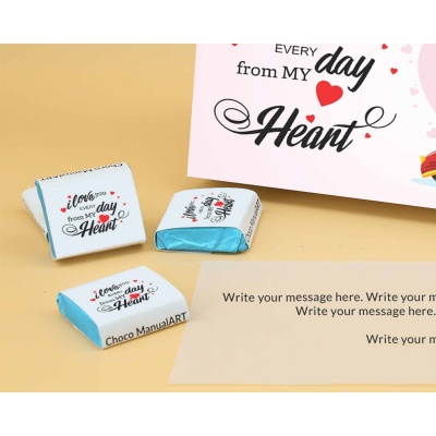 Customised Chocolates With Wrappper Printed 18pcs  Valentaine Day 07FNWPC