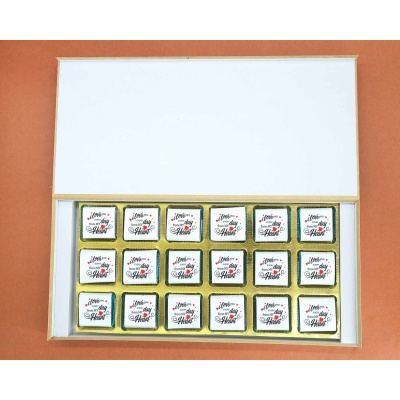 Customised Chocolates With Wrappper Printed 18pcs  Valentaine Day 07FNWPF