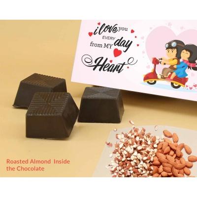 Customised Chocolates With Almonds 6Pcs  Valentaine Day 07RANPC
