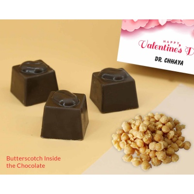 Personalised Chocolates | Butter Scotch 6Pcs  Valentaine Day 08BSNPC