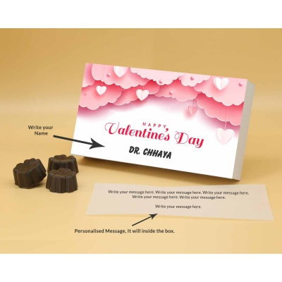 Personalised Chocolates | Fruit  Nuts 18Pcs  Valentaine Day 08FNNPB