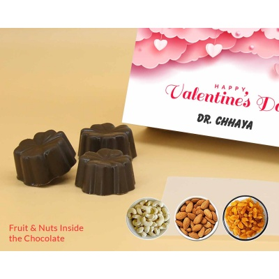 Personalised Chocolates | Fruit  Nuts 18Pcs  Valentaine Day 08FNNPC