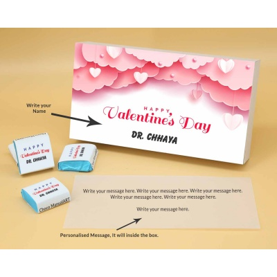 Personalised Valentine Gift | Wrappper Printed Chocolates 12pcs  Valentaine Day 08FNWPB