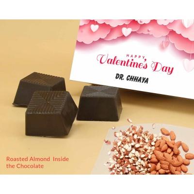Personalised Valentine Gift | Almond Chocolates 18Pcs  Valentaine Day 08RANPC