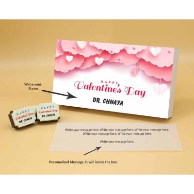 Name Printed Chocolate 18 Pcs  Valentaine Day 08RAPB