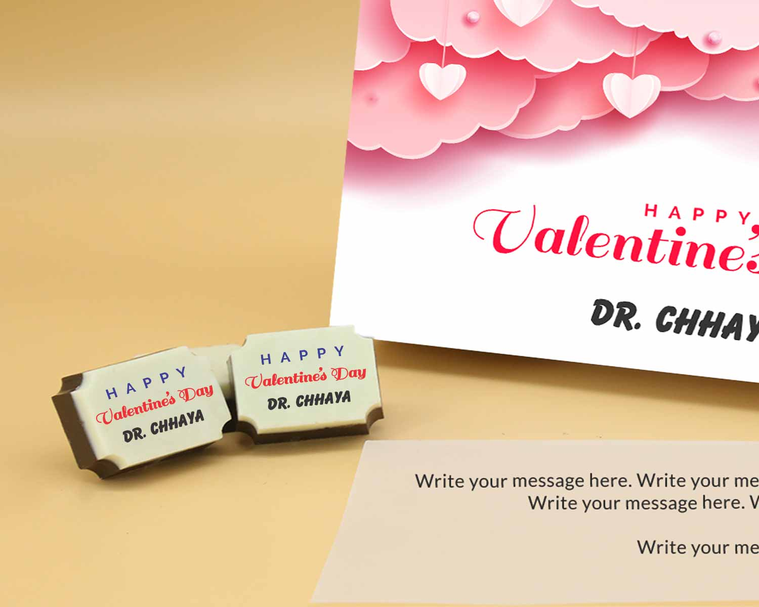 Personalized Chocolate in Hyderabad chocolate box Valentaine Day 08RAPC