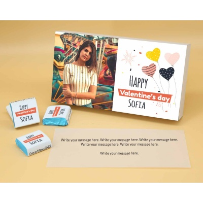 Photo Printed Chocolate Box With Wrappper Printed 6pcs  Valentaine Day 09FNWPA