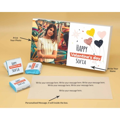 Photo Printed Chocolate Box With Wrappper Printed 6pcs  Valentaine Day 09FNWPB