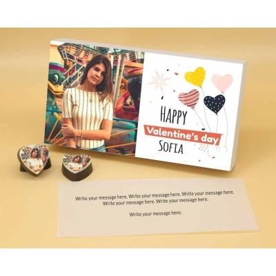 Photo Printed On Heart Choclates 12 Pcs  Valentaine Day 09HAPA