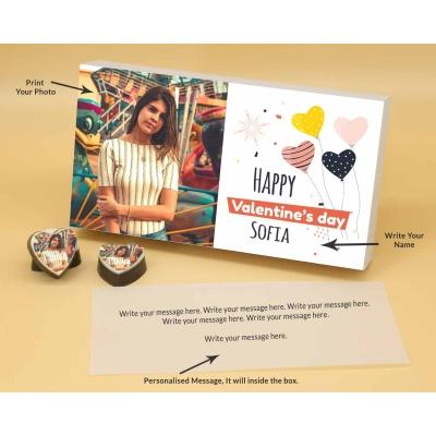 Photo Printed On Heart Choclates 12 Pcs  Valentaine Day 09HAPB