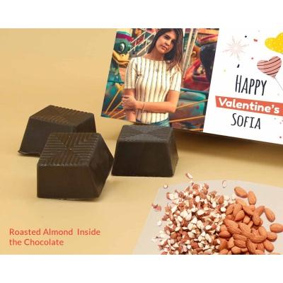 Photo Printed Chocolate Box With Almonds 12Pcs  Valentaine Day 09RANPC