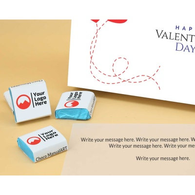 Corporate Valentine Gift | Wrappper Printed Chocolates 18pcs  Valentaine Day 10FNWP3