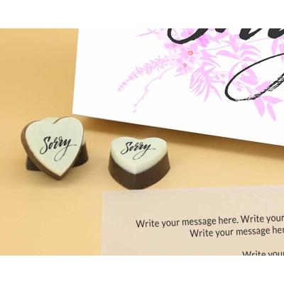 Sorry Chocolates in Heart Shape 12 Pcs  Valentaine Day 14HAPC