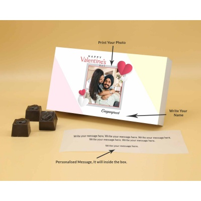 Best Customised Choclates Box   Butter Scotch 6Pcs  Valentaine Day 15BSNPB