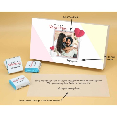 Couple Photo Valentine Gift | Wrappper Printed Chocolates 6pcs  Valentaine Day 15FNWPB