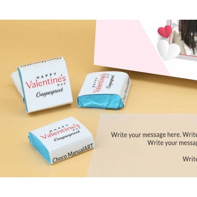 Couple Photo Valentine Gift | Wrappper Printed Chocolates 6pcs  Valentaine Day 15FNWPC